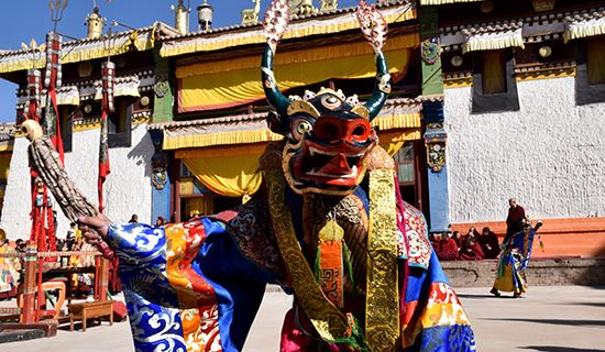 Monlam Festival (New Year's Festival, Losar) in Repkong (Tongren)