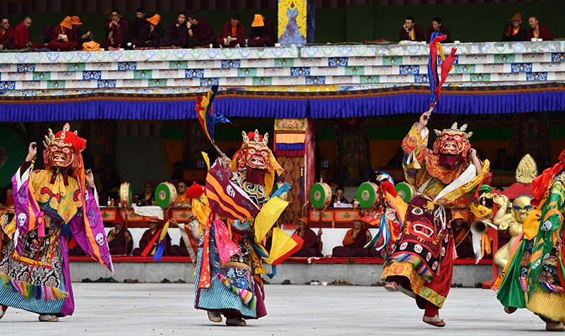 Mask Dance in Katok Monastery